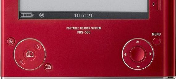 Parte inferior de un Sony PRS-505