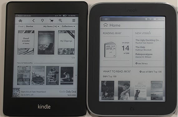 Kindle Paperwhite Vs Nook Simple Touch Glowlight