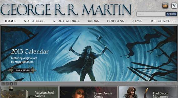 George RR Martin - web nueva