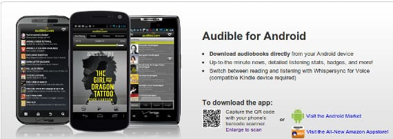 Audible, la app de audiobooks se actualiza en Android