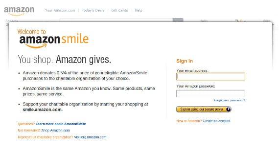Amazon Smile, el lado más caritativo de Amazon