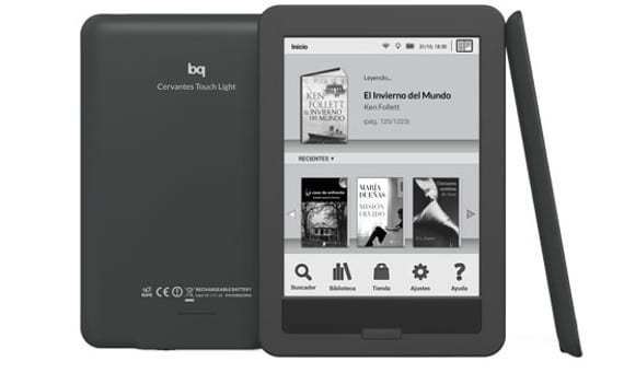 BQ actualiza su Cervantes Touch Light