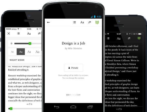 Readmill, una aplicación nueva para android