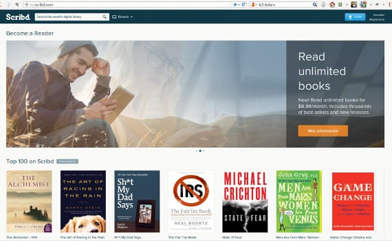 Scribd, alquiler de ebooks al estilo Netflix