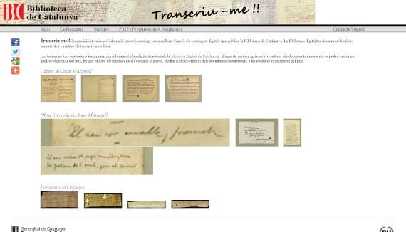 Transcriu-me!! Un proyecto que nos lleva los documentos antiguos a nuestro eReader