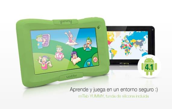 miTab Yummy, la tablet/eReader de Wolder para los niños