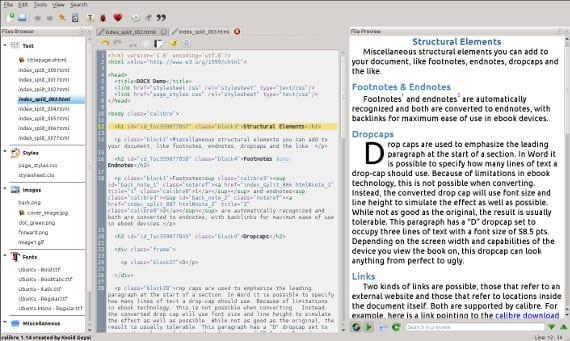 Calibre incorpora un editor de ebooks