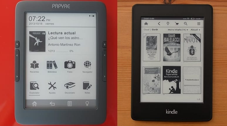 Kindle Paperwhite Vs Papyre 630