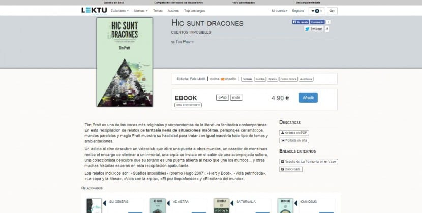 Ficha de libro Lektu