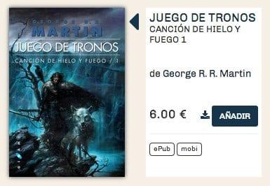 Juego de tronos en digital a 6€