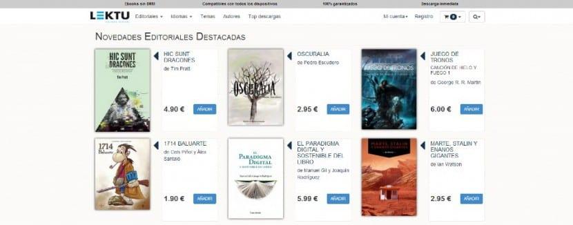 Plataforma de venta online de ebooks Lektu