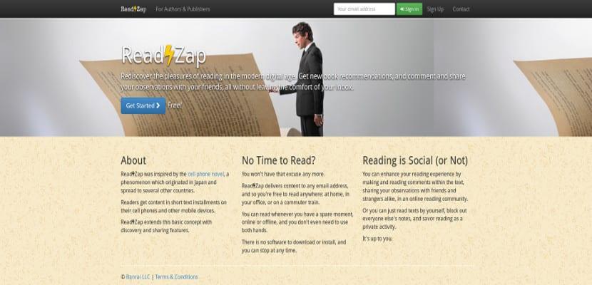 ReadZap, un recomendador de ebooks vía email