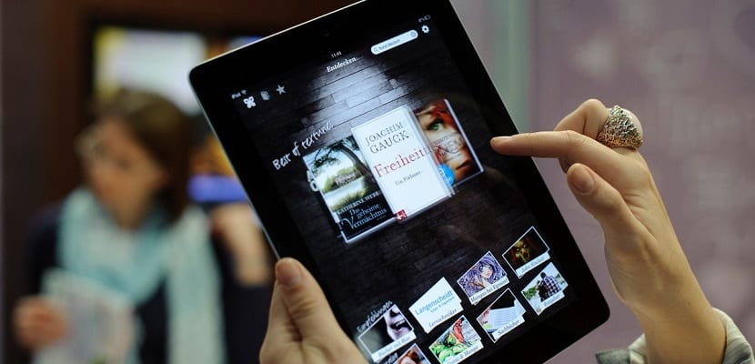 eBooks en un iPad de Apple