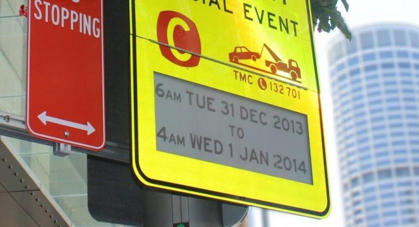 Australia utiliza señales de tráfico con pantalla de tinta electrónica