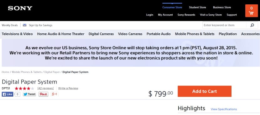 Tienda Sony