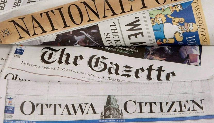 Prensa de papel de Canadá