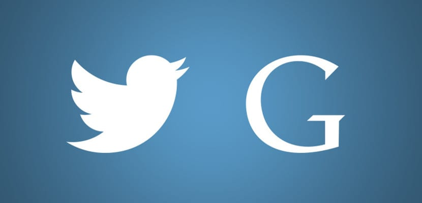 Logos de Google y Twitter