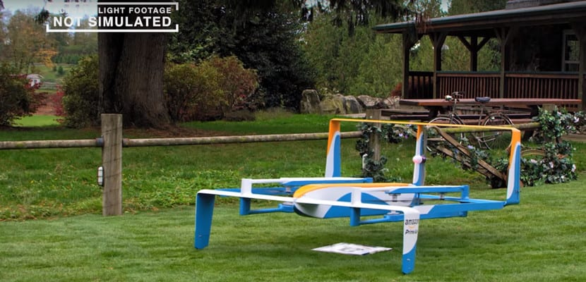 Dron volador de Amazon