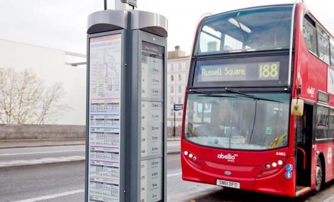 Parada autobús e-ink