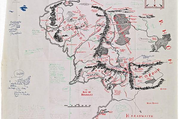Mapa Tierra Media Hd.Se Revela El Mapa De La Tierra Media Con Las Anotaciones De