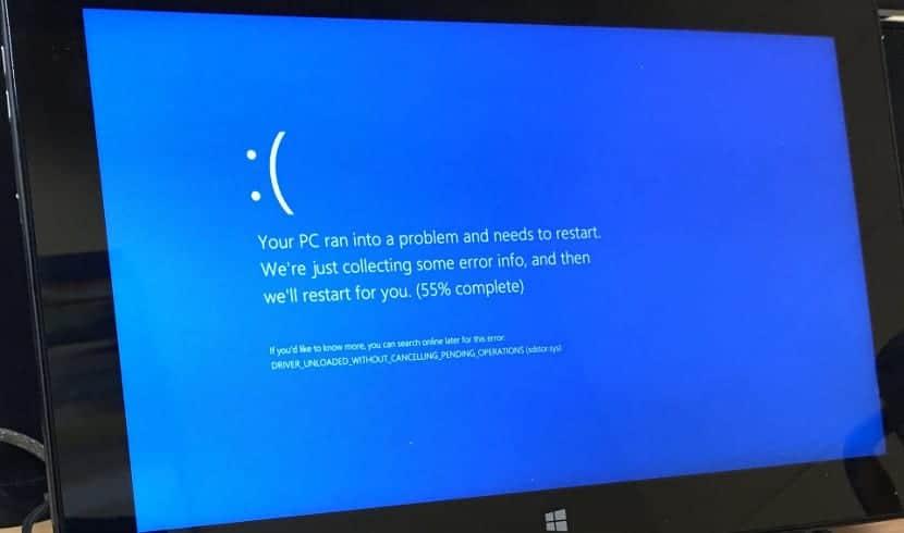 Pantallazo azul Windows 10
