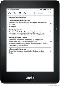 Comparativa del Kindle voyage con otros lectores de ebooks