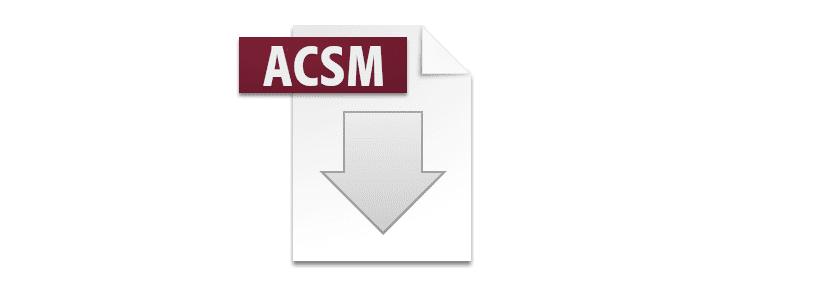 qué son los archivos ACSM