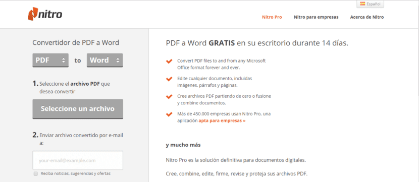 Convertir PDF a Word en PDFtoWord