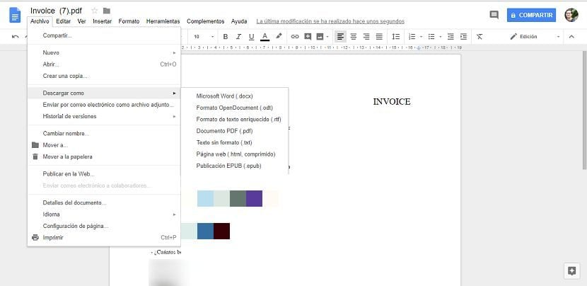 Descargar PDF como doc