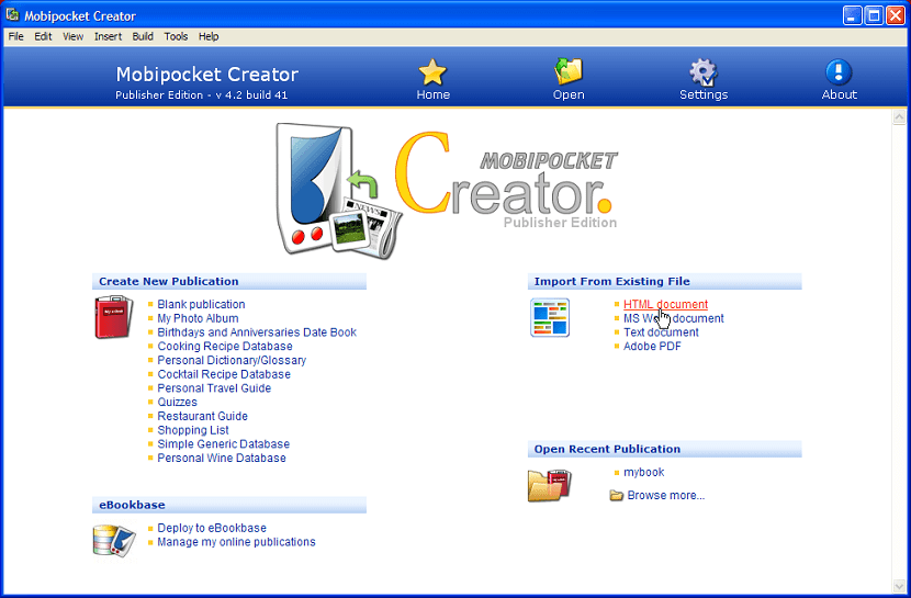 Mobipocket Creator Oficial