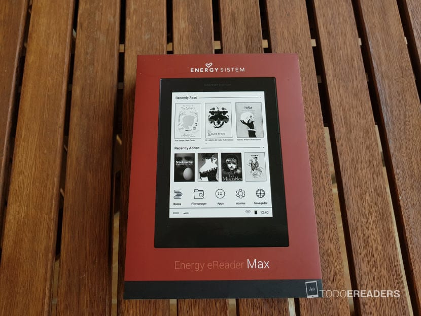 Packaging y caja del ereader Max