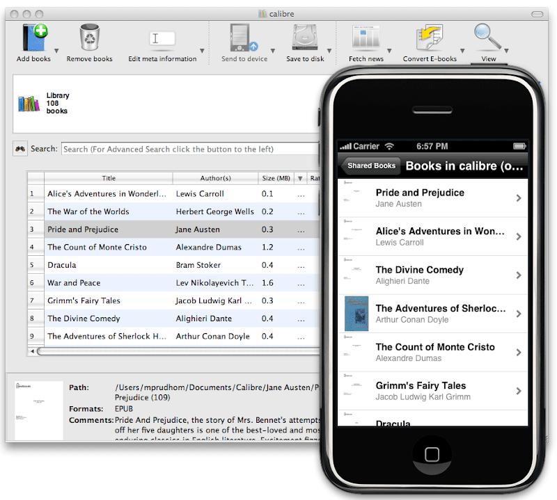 Interfaz y diseño de Calibre Portable