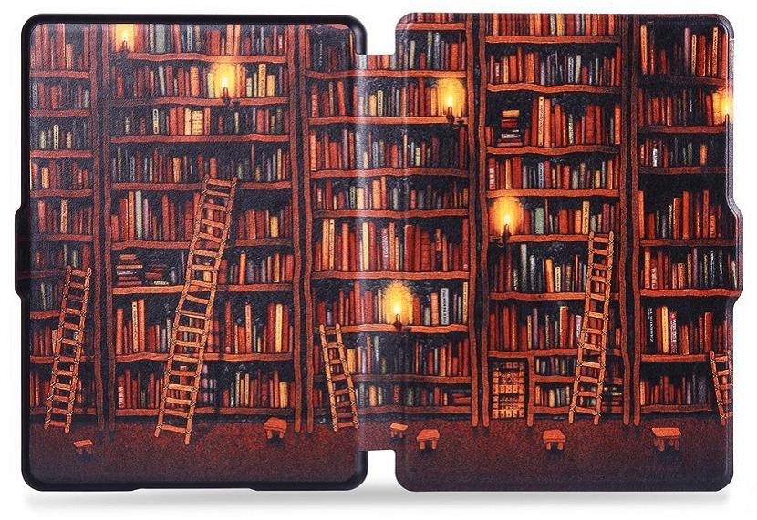 Funda Kindle Paperwhite con dibujo de libros