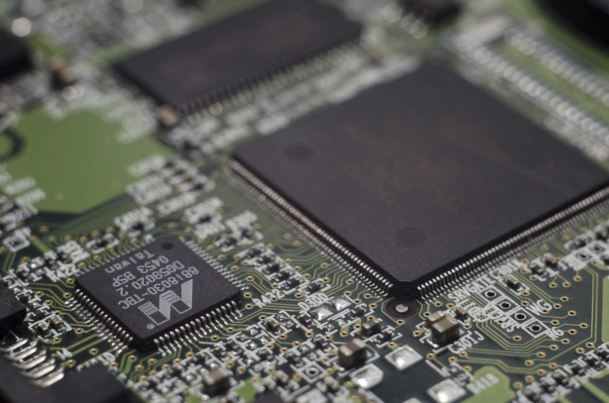 chipset de un dispositivo electrónico similar al procesador de un ereader