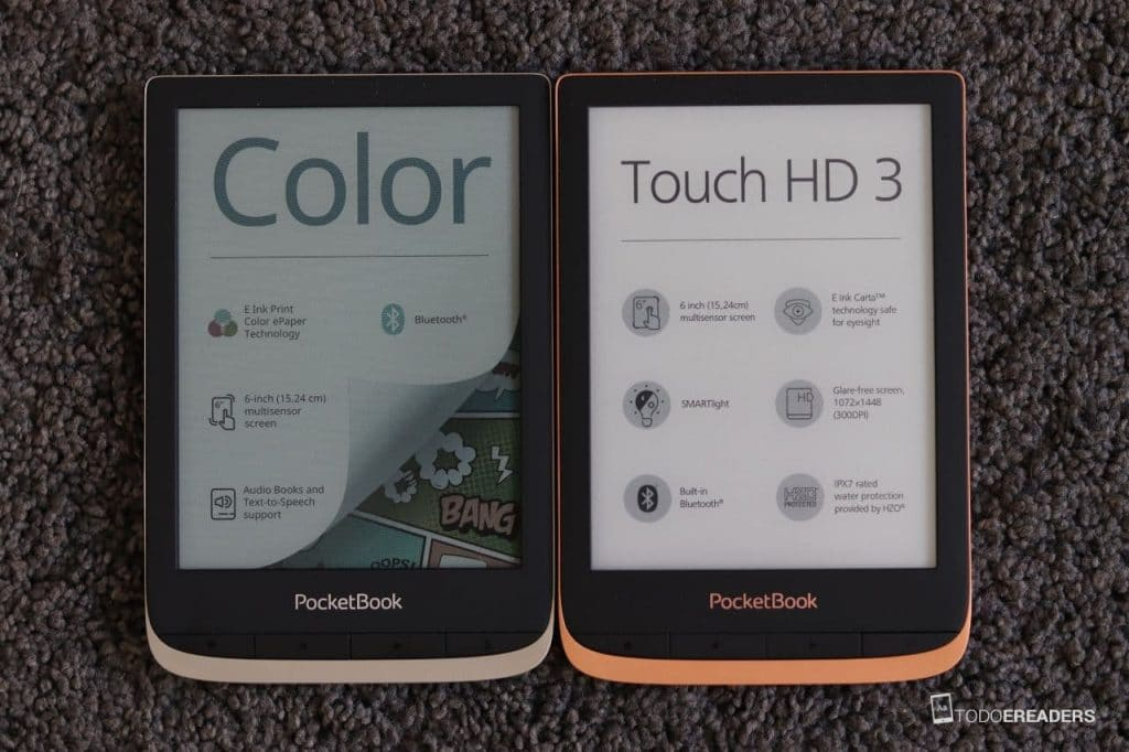 comparativa pocketbook color vs touch hd 3